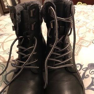 Combat boots from JustFab.  Size 8.5